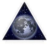Pleine lune graphique Photographie stock