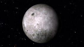 Pleine lune tournant sur un fond d'étoile banque de vidéos