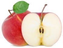 Pleine pomme et tranche coupée Photographie stock