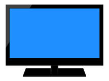 Pleine télévision d'affichage à cristaux liquides de HD Image libre de droits