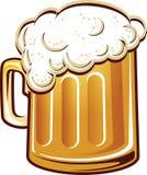 Pleine tasse de bière Photos stock
