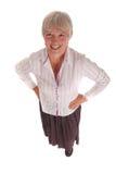 Pleine verticale de fuselage d'un femme aîné d'affaires Photo libre de droits