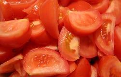 Pleines tomates de coupure Photo libre de droits