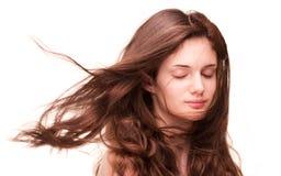 Pleins cheveux étonnants Photographie stock