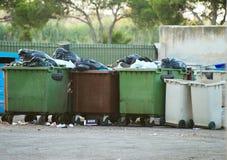 Pleins déchets photographie stock
