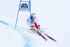 PLEISCH Manuel στο Παγκόσμιο Κύπελλο alpine skiing Audi Fis Στοκ εικόνες με δικαίωμα ελεύθερης χρήσης