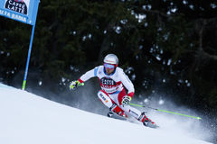 PLEISCH Manuel in Audi Fis Alpine Skiing World Cup. Alta Badia, Italy 20 December 2015. PLEISCH Manuel (Sui) competing in the Audi Fis Alpine Skiing World Cup royalty free stock images
