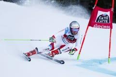 PLEISCH Manuel in Audi Fis Alpine Skiing World-Kop Stock Afbeeldingen