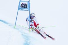 PLEISCH Manuel in Audi Fis Alpine Skiing World-Kop Royalty-vrije Stock Afbeeldingen