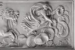 Pleister het schilderen, antiquiteit verfraait royalty-vrije stock afbeeldingen