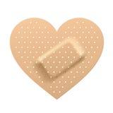 Pleister in vorm van hart. Vector. Royalty-vrije Stock Afbeelding