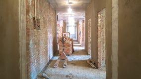 Pleistermuren bij de bouwwerf stock foto's