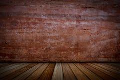 Pleistermuren en houten vloeren royalty-vrije stock afbeelding