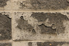 Pleistermuren, pellende verf Stock Foto's