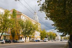 Plekhanov Street in Voronezh in Russia Stock Photography