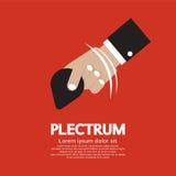 Plektrum i hand stock illustrationer