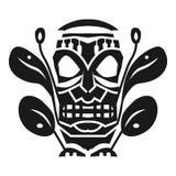 Plemienna aztec maski idola ikona, prosty styl royalty ilustracja