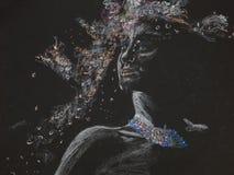 Plemienna bogini, pastelowy rysunek Zdjęcia Royalty Free