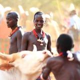 Plemienna chłopiec fotografia stock