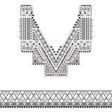 Plemienna dekoracja dla odziewa Fotografia Royalty Free