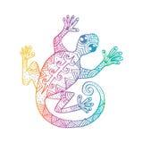 Plemienna Dekoracyjna jaszczurka royalty ilustracja