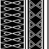 Plemienna deseniowa tekstura z r?ka rysuj?cym afrykaninem, aztec, majowie kreatywnie rysunkowa wektorowa ilustracja Czarny i bia? royalty ilustracja