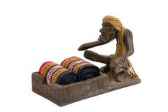 Plemienna drewniana zasolona drewniana sztuka w Thailand Obrazy Stock