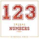 Plemienne etniczne liczby dla koszulek, plakatów, karty i inny, uses Obrazy Royalty Free