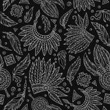 Plemiennego abstrakcjonistycznego rodzimego chalkboard bezszwowy wzór Obraz Royalty Free