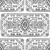 Plemiennego Meksykańskiego rocznika etniczny bezszwowy wzór Obraz Stock