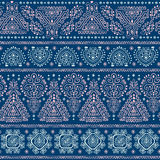 Plemiennego Meksykańskiego rocznika etniczny bezszwowy wzór Obraz Royalty Free