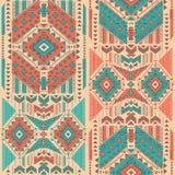 Plemiennego Meksykańskiego rocznika etniczny bezszwowy wzór Obrazy Royalty Free