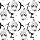 Plemiennego pantera tatuażu bezszwowy wzór również zwrócić corel ilustracji wektora ilustracja wektor