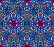 Plemiennego rocznika abstrakcjonistyczny geometryczny etniczny bezszwowy deseniowy ornamentacyjny royalty ilustracja