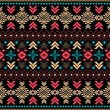 Plemiennego rocznika etniczny bezszwowy wzór Zdjęcie Stock