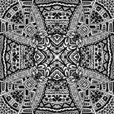 Plemiennego rocznika etniczny bezszwowy wzór Zdjęcia Royalty Free
