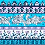 Plemiennego rocznika etniczny deseniowy bezszwowy Obraz Royalty Free