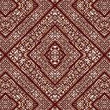 Plemiennej mozaiki bezszwowy wzór Zdjęcia Royalty Free