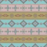 Plemiennej sztuki bezszwowy wzór Etniczny geometryczny druk Azteka tła kolorowa wielostrzałowa tekstura Obrazy Stock