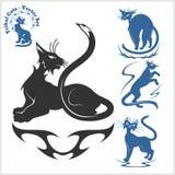 Plemienni koty dla tatuażu - wektoru set Fotografia Stock