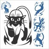 Plemienni koty dla tatuażu - wektoru set Zdjęcie Stock