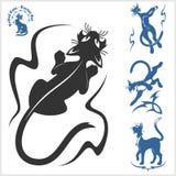 Plemienni koty dla tatuażu - wektoru set Fotografia Royalty Free
