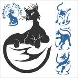 Plemienni koty dla tatuażu - wektoru set Zdjęcia Stock
