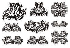 Plemienni lisów symbole Zdjęcia Stock