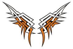plemienni skrzydła ilustracji