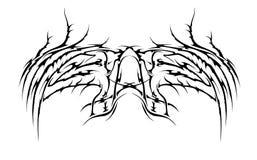 plemienni skrzydła ilustracja wektor