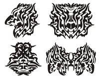 Plemienni smoków elementy Obrazy Stock