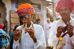 Plemienni turbanów mężczyzna Przy Pushkar Wielbłądzim jarmarkiem, Rajasthan, India Fotografia Royalty Free