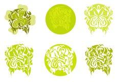 Plemienni zieleni koniczynowi symbole Zdjęcia Stock