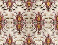 Plemienny bezszwowy kolorowy geometryczny wzór obrazy royalty free